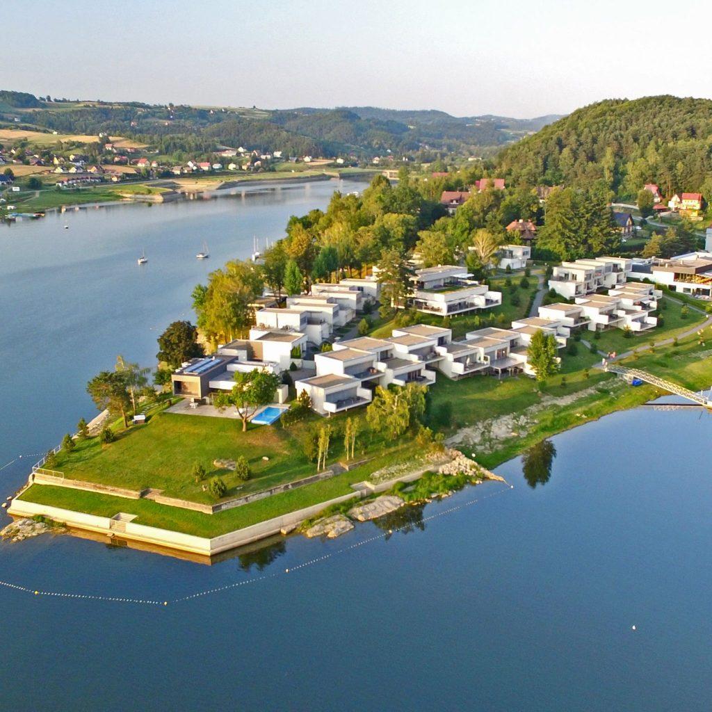 Apartament z widokiem na jezioro i SPA