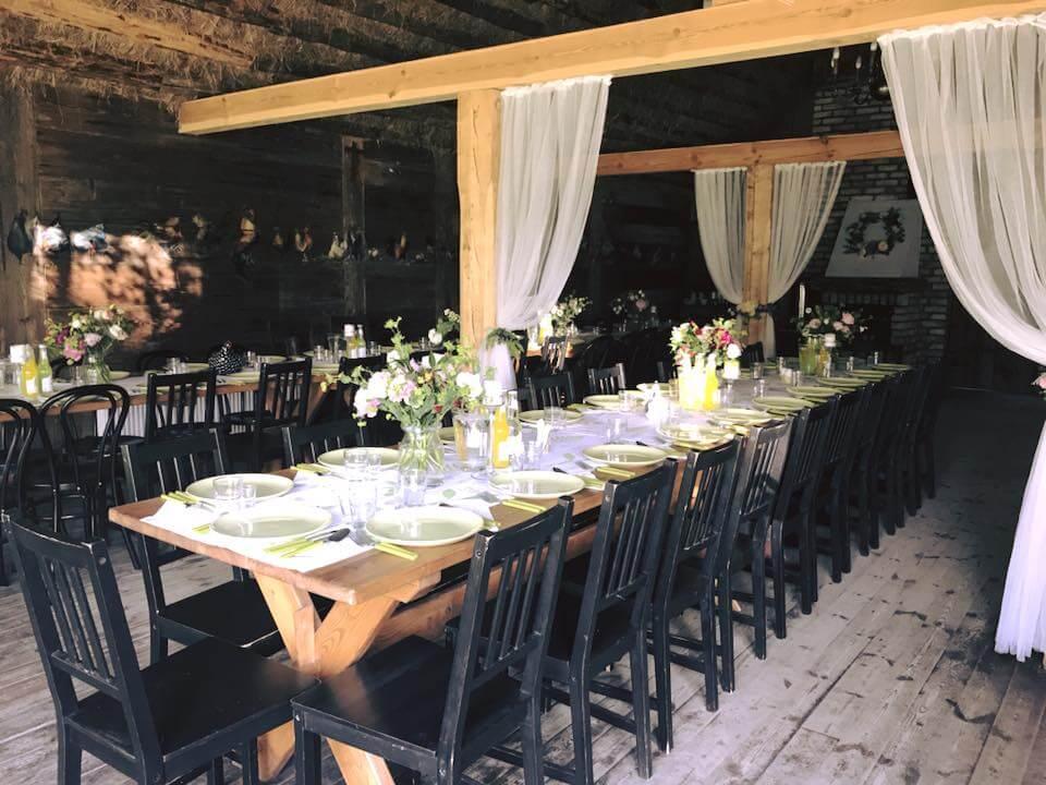 Piękna sala na weselną zabawę w stodole #1. Sala - Stajnia Sowlany
