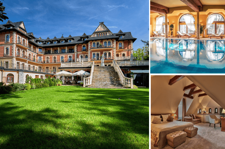 Top 1. Grand Hotel**** Stamary Wellness & SPA na romantyczny weekend w SPA